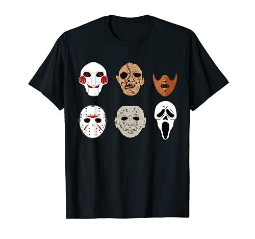 Mscaras de pelcula de terror miedo payaso segador disfraz de Halloween Camiseta