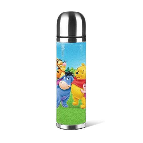 donghu Botella de agua de acero Stainl de 17 onzas con aislamiento al vacío Botella de agua reutilizable de doble pared
