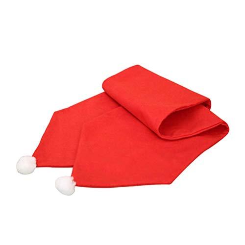 Amosfun - Camino de Mesa de Navidad, diseño de Cena, Color Rojo