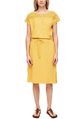 s.Oliver Damen Kleid kurz Yellow 42