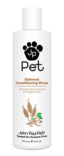 John Paul Pet Oatmeal Conditioning Rinse for Dogs and Cats, Soothing Sensitive Skin Formula, Moisturizes and Revitalizes Dry Skin and Fur, 16-Ounce