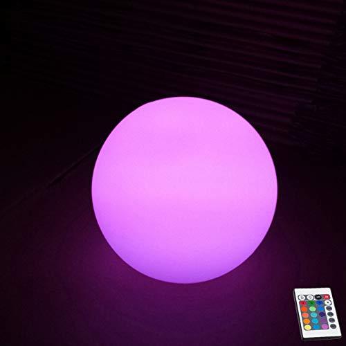 YQHWLKJ 15Cm 20Cm 25Cm 30Cm Globe Globe Lighting Patio trasero al aire libre/Decoración de jardín Led Spherical Landscape Rgb Lighting Lámpara de mesa Night Light 1Pc