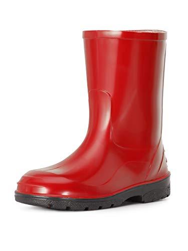 Ladeheid Kinder Mädchen Jungen Gummistiefel Regenstiefel LA-939 (Rot-2, 34 EU)