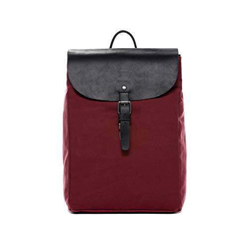 FEYNSINN® Mochila Hanne Backpack morral Bolso de Hombro Piel Rojo
