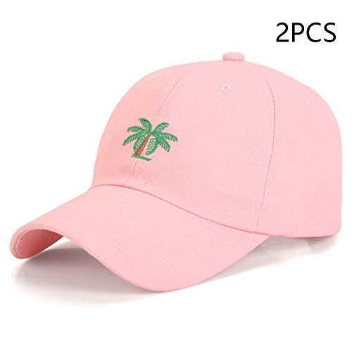 Hut mannen en vrouwen, zomer baseballmuts, plant kokosnoot borduurwerk eend tong petten, outdoor zonwering, modieus casual golden tennis hoed (2 stuks)