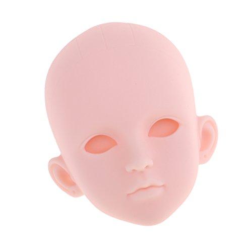 Baoblaze 1/4 Weibliche Puppenkopf Headsculpt ohne Perücke Haar, Puppe Kopf für 1/4 BJD Mädchen Puppe Körper Teile - Ohne Augen