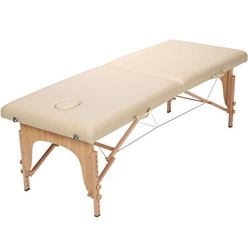 軽量折りたたみマッサージベッド 木製・有孔