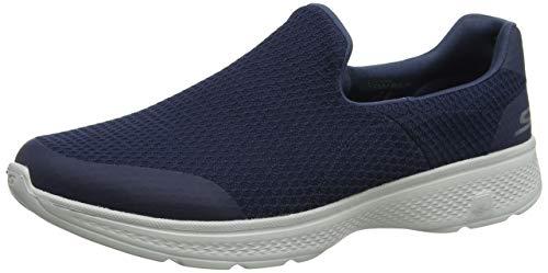 Skechers Men Go Walk 4-Alliance Navy and Gray Nordic Walking Shoes-8 UK (9 US) (54689-NVGY)