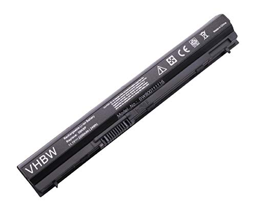 vhbw Batería Compatible con DELL Latitude E6120, E6220, E6320, E5220, E632, E6330, E6230, E6430s Notebook (2200mAh 11,1V Li-Ion Negro)