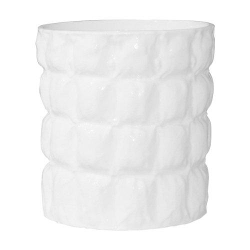 Kartell 1225E5 Vase Matelasse, weiß glänzend