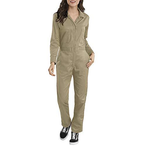 Dickies Damen Long Sleeve Cotton Twill Coverall Arbeitsanzug, Khaki, Klein