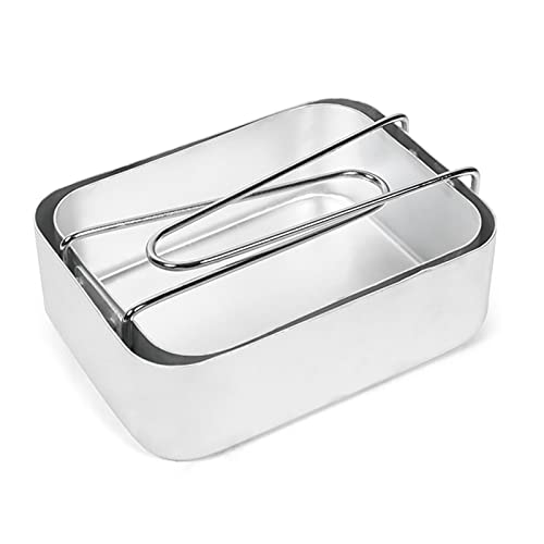 Lixada 2PCS Caja de Almuerzo de Aluminio Juego de Utensilios de Cocina de Aluminio Contenedor de Comida Senderismo Mochila Picnic