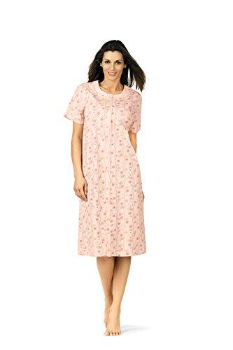 Comtessa 181214 Damen Nachthemd 100% Baumwolle Apricot Gr. 36-38