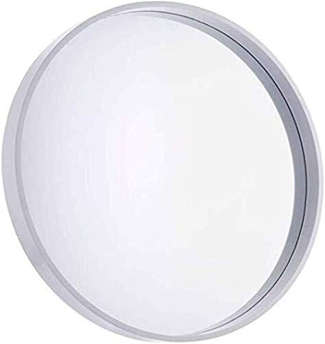 LSNLNN Espejos, Espejo Brillante Espejo Redondo, Metal Retro Espejo Decorativo Espesante M Baño Espejo de Belleza Espejo a Prueba de Humedad Espejo Maquillaje Y Espejo,Blanco,70 * 70 * 7Cm