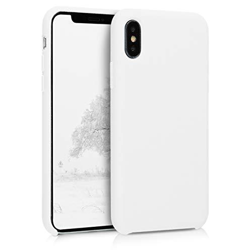 kwmobile Hülle kompatibel mit Apple iPhone X - Hülle Handyhülle gummiert - Handy Hülle in Weiß