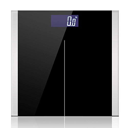 BINGFANG-W Discs Waage Personenwaage, Körper genaue elektronische Digital-Gewicht-Skalen Gesundheit Gleichgewicht Haushaltswaagen, 180Kg / 400LB Schwarz Abrasive