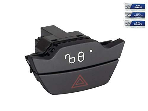 Ersatz-Schalter für Warnblinker und Zentralverriegelung Farbe Schwarz geeignet für Ford B-Max | C-Max | Fiesta | Focus | Kuga | Transit