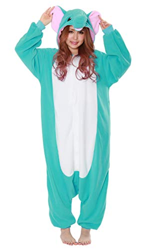 Kigurumi Pyjama Elephant Marque Originale SAZAC (100% Qualite Japonaise) - Bleu - Adultes (1m50 a 1m80)