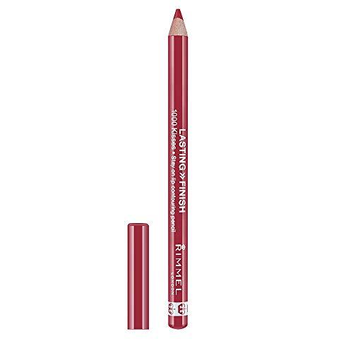 Rimmel London 1000 Kisses Lipliner Perfilador de Labios Tono 004 Indian Pink-...