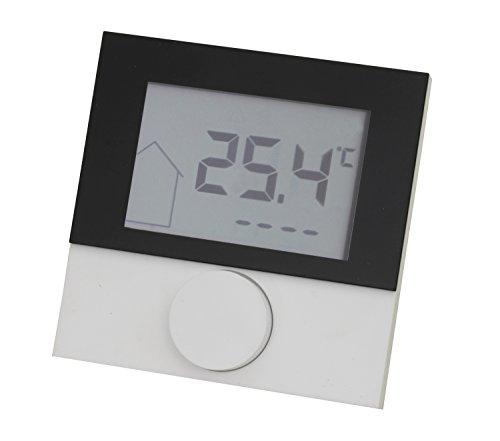 Raumthermostat LCD Alpha direct Control 230V mit Designscheibe für Fußbodenheizung