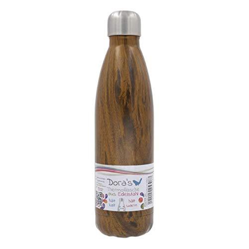 Biodora Edelstahl Thermoflasche Holz (500 ml) - DORAs