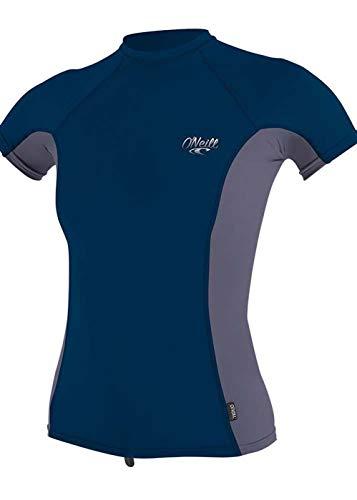 O'Neill - Tshirt Femme Anti UV Manches Courtes - Bleu Foncé/Gris XS