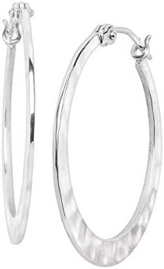 Silpada Full Circle Hammered Hoop Earrings in Sterling Silver product image