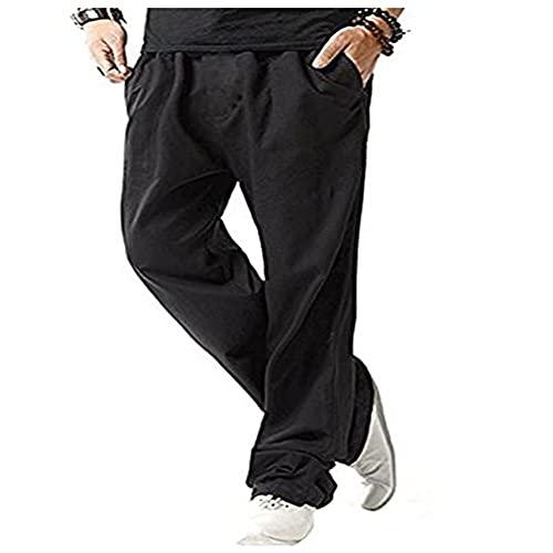 N\P Pantalones de lino de algodón para hombre de verano transpirable color sólido pantalones de lino