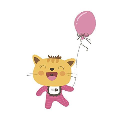 TIVOPA Animaux De Bande Dessinée Fox Chat Lion 3D Sticker Mural Salle De Bains Toilette Enfants Chambre Décoration Stickers Muraux Autocollant Réfrigérateur Étanche