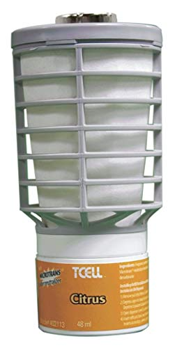 Rubbermaid Commercial Tcell Microtrans Odor Neutralizer Refill, Citrus, 1.62 Oz, 6/Carton