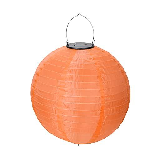 Lámparas solares de jardín al aire libre, nailon, farolillo de luz impermeable (naranja)