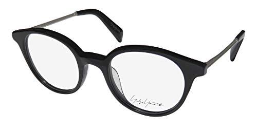 Yohji Yamamoto Yy1008 Mens/Womens Designer Full-rim Contemporary Upscale Eyeglasses/Eyeglass Frame (47-20-140, Black/Silver)