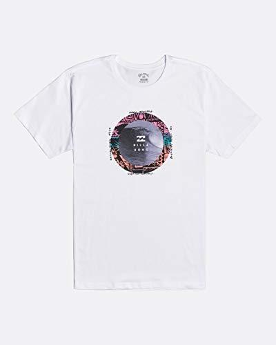 BILLABONG - Plug In Camiseta, Blanco, M