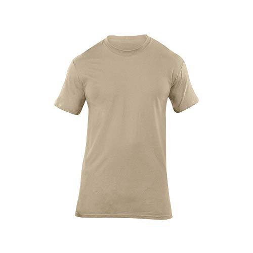 5.11 Utili-T Lot de 3 Chemises à col Rond pour Homme Moyen ACU Tan.