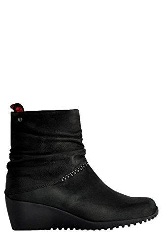 Wolky Damenschuhe Wannabe 8701500 Black Nepal Oil L Schwarz Damen Stiefelette Reißverschluss (39)
