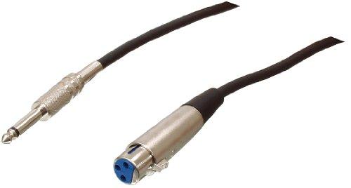 Valueline CABLE-431/6 Cavo Microfonico Professionale, 6 m, Nero