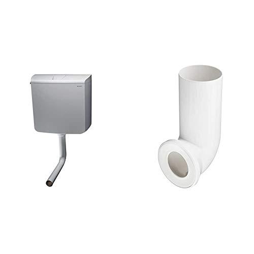 Geberit SCACAS0010CA AP110 Spülkasten, mit Stopptaste, 9 Liter, Weiß & Sanitop-Wingenroth 21642 5 Anschlussbogen für Stand WC   Weiß   90 Grad   WC, Toilette
