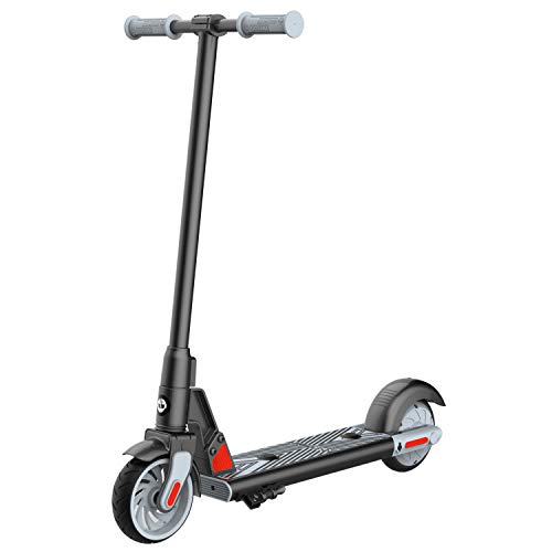 """GOTRAX GKS Electric Scooter, Kick-Start Boost and Gravity Sensor Kids Electric Scooter, 6"""" Wheels UL Certificated E Scooter for Kids Age of 6-12 (Black)"""