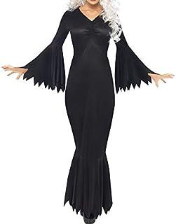 Costume da Strega di Halloween Costumi Horror Spaventosi Gioco Nero Abiti Fantasma Abito Lungo da Cosplay Strech Party La