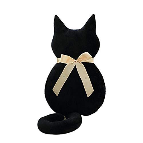 Juguetes de peluche Moda espalda sombra gato asiento sofá almohada cojín lindo peluche de peluche relleno de dibujos animados almohada grandes juguetes para regalo ( Color : Black , Height : 75 cm )