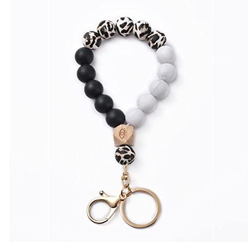 Sahoga Pulsera de perlas de silicona para mujer, pulsera de perlas, llavero, portátil, para casa o coche