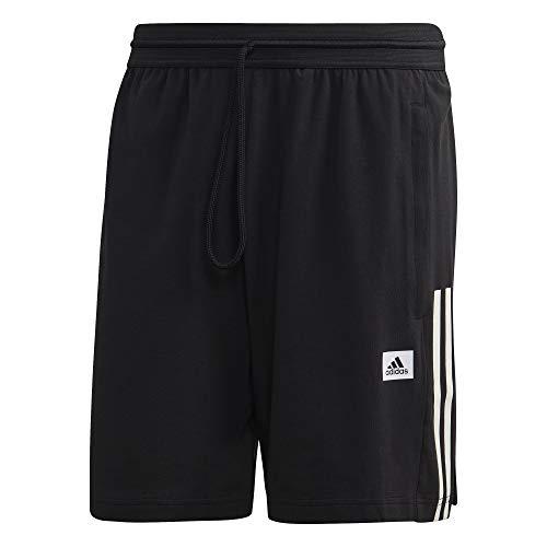 adidas M D2M Motion SH Pantalón Corto, Hombre, Negro/Blanco, 2XLS
