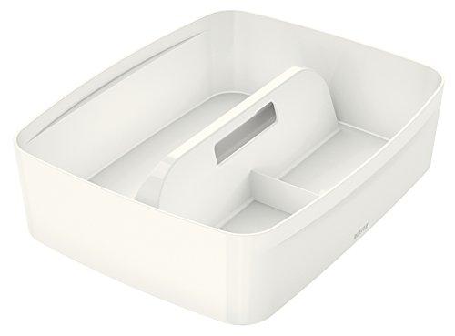 Leitz MyBox, Organiser mit Griff, Groß, Blickdicht, Weiß, Kunststoff, 53224001
