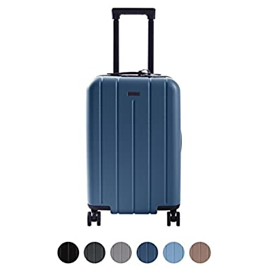 CHESTER Carry-On Luggage/22  Lightweight Polycarbonate Hardshell/Spinner Suitcase/TSA Approved Cabin Size (Ocean Blue)