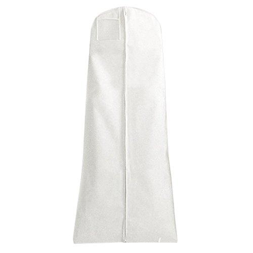Hangerworld Kleidersack für Brautkleider 183cm Weiß Kleiderhülle