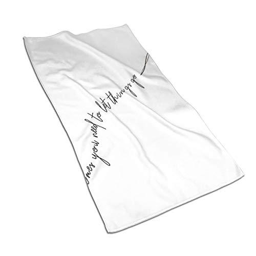 Generieke 27.5 * 15.7in Handdoek vliegen weg hart soms moet je gaan van dingen zachte super absorberende pluizige handdoek katoen gepersonaliseerd vierkant gezicht zachte hotel bad