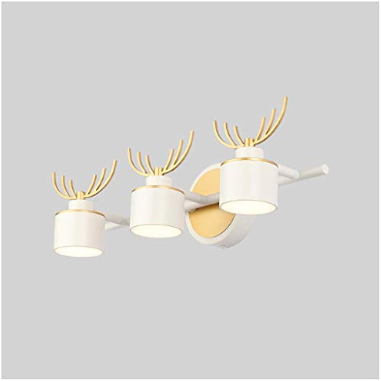 LQ Spiegel Frontleuchte Led Bad Retro Spiegel Kabinett Licht Schminktisch Make-Up Lampe Wandleuchte (Farbe   B)