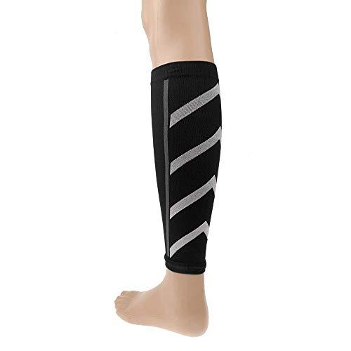Ogquaton 1 paire de compression de course à pied manches sport manches de mollet manches de confort mollet confortable pour soulager la douleur au veau, gonflement, varices, pratique et pratique