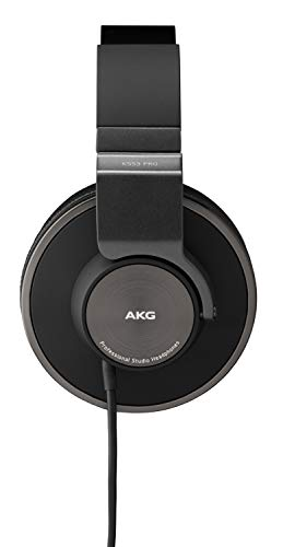 AKG Pro Audio K553 MKII Over-Ear, Closed-Back, Foldable Studio Headphones,Black