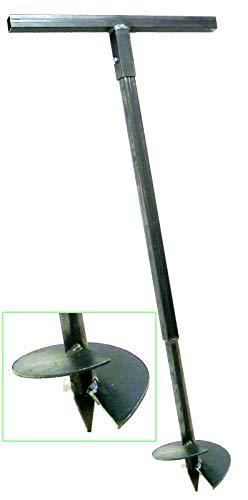 180 mm Erdbohrer Handerdbohrer Erdlochbohrer Pflanzbohrer Pfahlbohrer Lochspaten Erdlochausheber Pfostenbohrer